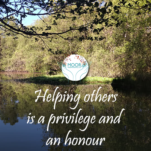 Helping others is a privilege and an honour